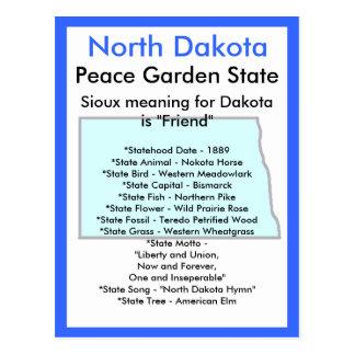 Carte Postale Au sujet du Dakota du Nord