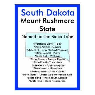Carte Postale Au sujet du Dakota du Sud