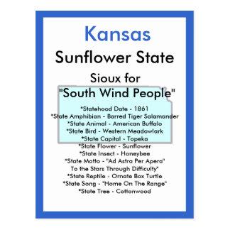 Carte Postale Au sujet du Kansas
