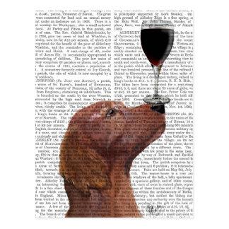 Carte Postale Au Vin de chien de poseur rouge