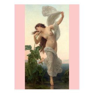 Carte Postale Aube - art vintage - Bouguereau