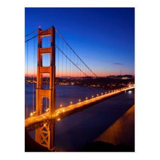 Carte Postale Aube au-dessus de pont de San Francisco et de