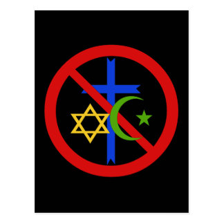 Carte Postale Aucune religion
