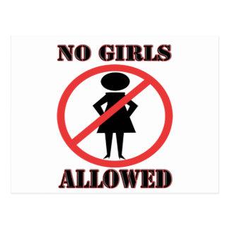 Carte Postale Aucunes filles permises