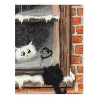 Carte Postale Aucuns mots requis - chats de Valentine par BiHrLe