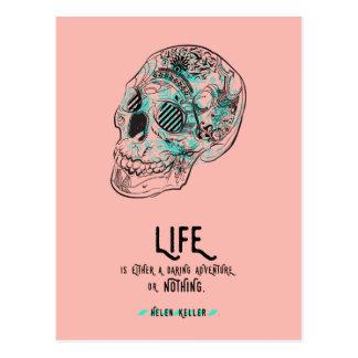 Carte postale audacieuse de citation de la vie
