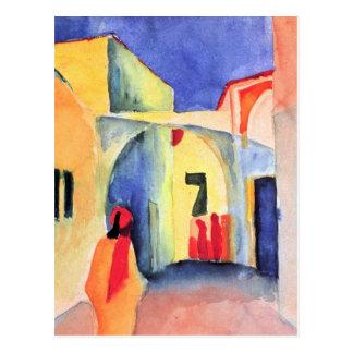 Carte Postale August Macke - vue dans une ruelle