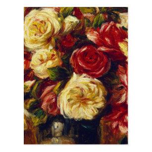 Carte Postale Auguste Renoir - bouquet des roses