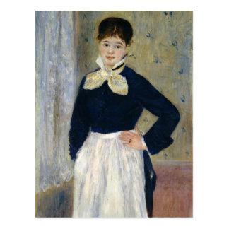 Carte Postale Auguste Renoir une serveuse au restaurant de