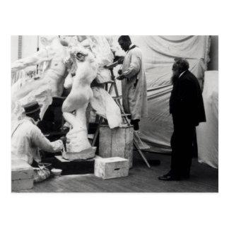 Carte Postale Auguste Rodin dans son studio de Paris