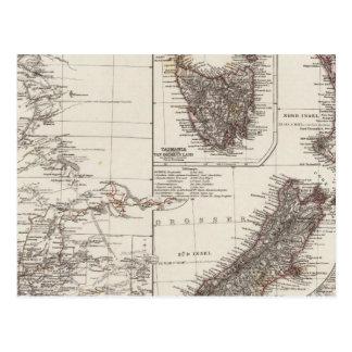 Carte Postale Australie occidentale Tasmanie et Nouvelle Zélande