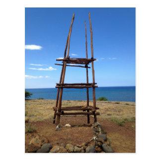 Carte Postale Autel hawaïen, Pu'ukohola Heiau, Hawaï
