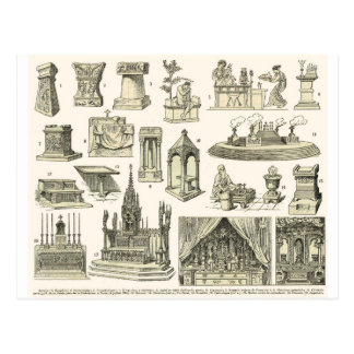 Carte Postale Autels vintages