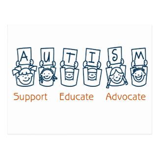 Carte Postale Autisme : L'appui instruisent l'avocat
