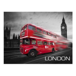 Carte Postale Autobus de Big Ben Londres