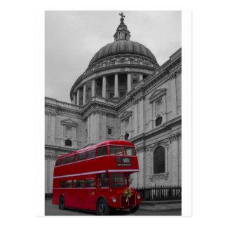 Carte Postale Autobus de rouge de Londres