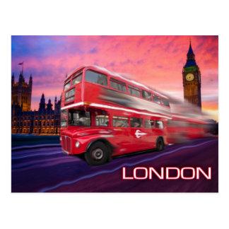 Carte Postale Autobus et Big Ben de Londres