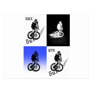 Carte Postale Autocollants de CYCLISTE du cycliste MTB BMX de