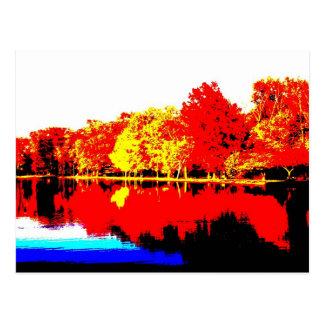Carte Postale Automne dans des couleurs primaires