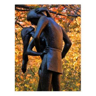 Carte Postale Automne de Central Park : Statue 01 de Romeo et de