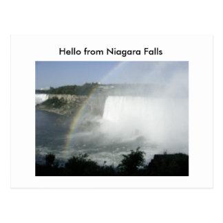 Carte Postale Automne de Niragara (70), bonjour des chutes du