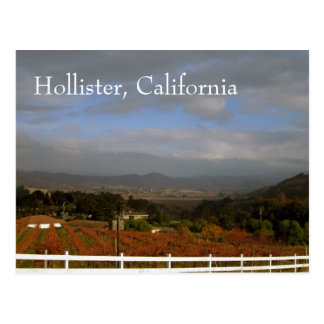 Carte Postale Automne en Hollister, la Californie