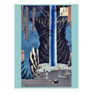 Carte Postale Automnes de Fudo, Oji par Ando, Hiroshige Ukiyoe
