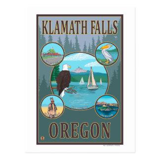 Carte Postale Automnes de Klamath, affiche de voyage