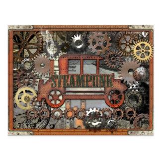 Carte Postale Automobile de Steampunk