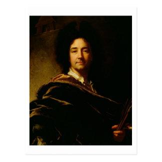 Carte Postale Autoportrait, 1716 (huile sur la toile)