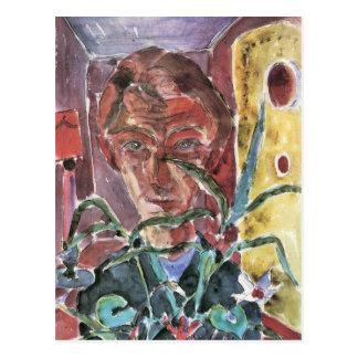 Carte Postale Autoportrait à Paris par Walter Gramatte