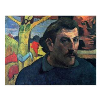 Carte Postale Autoportrait avec le Christ jaune par Gauguin Paul