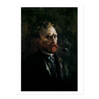 Carte Postale Autoportrait avec le tuyau, beaux-arts de Van Gogh