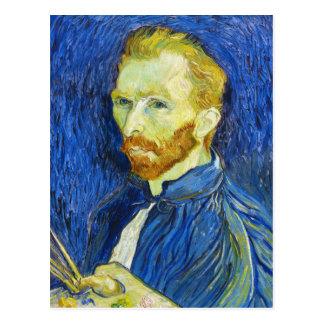 Carte Postale Autoportrait avec Pallette Vincent van Gogh