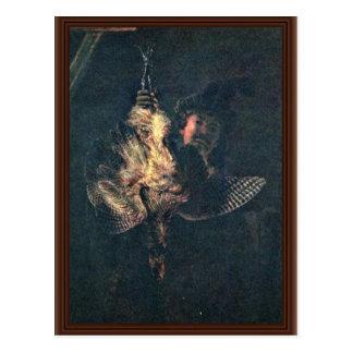 Carte Postale Autoportrait avec un butor étoilé mort par