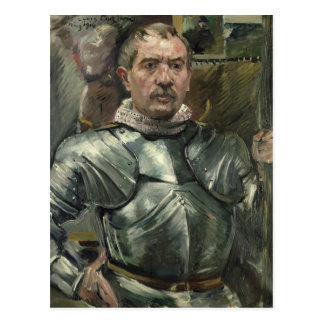 Carte Postale Autoportrait dans l'armure, 1914