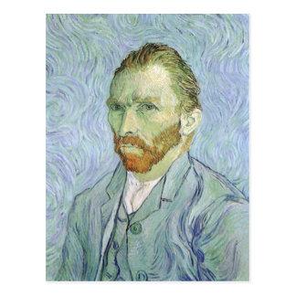 Carte Postale Autoportrait dans le bleu par Vincent van Gogh