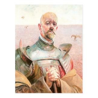 Carte Postale Autoportrait dans une armure par Jacek Malczewski