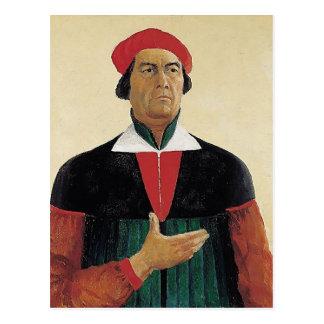 Carte Postale Autoportrait de Kazimir Malevich-