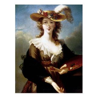 Carte Postale Autoportrait d'Elisabeth Vigee-Lebrun