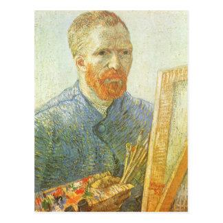 Carte Postale Autoportrait devant le chevalet, Vincent van Gogh