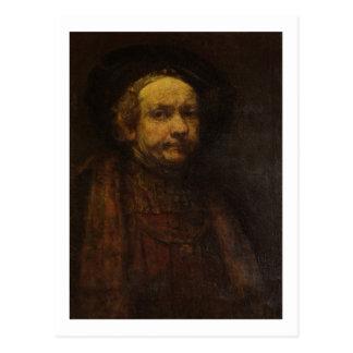 Carte Postale Autoportrait en tant que vieil homme, c.1664