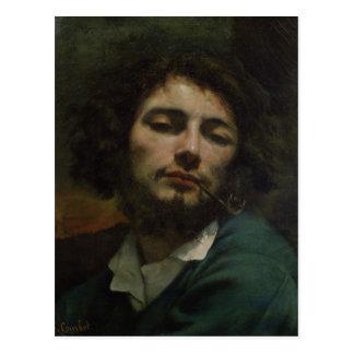 Carte Postale Autoportrait ou, l'homme avec un tuyau, c.1846
