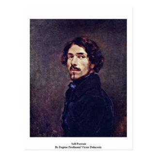Carte Postale Autoportrait par Eugène Ferdinand Victor Delacroix