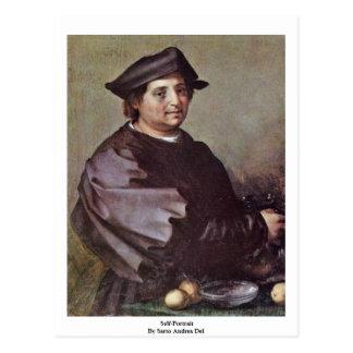 Carte Postale Autoportrait par Sarto Andrea Del