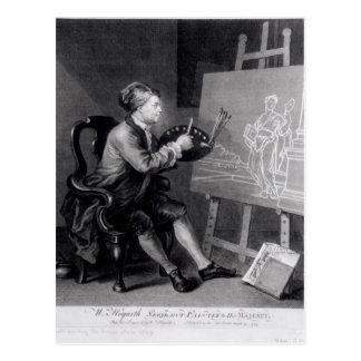 Carte Postale Autoportrait peignant la Muse comique