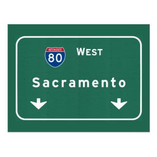 Carte Postale Autoroute d'autoroute nationale de Sacramento la