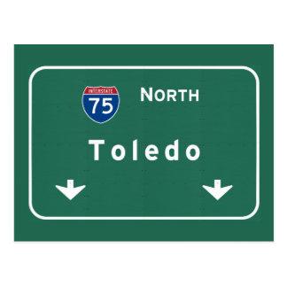 Carte Postale Autoroute d'autoroute nationale de Toledo Ohio oh