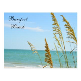 Carte postale aux pieds nus de plage