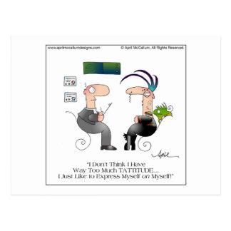 Carte postale avant avril McCallum de TATTITUDE
